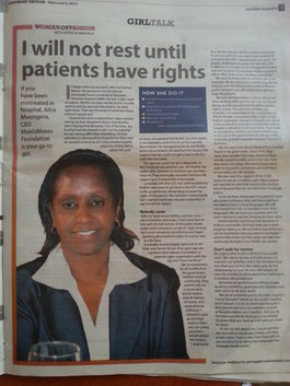 I will not rest until patients have rights